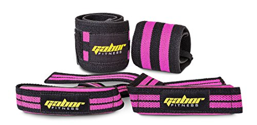 Gabor-Fitness-Heavy-Duty-Weightlifting-Wrist-Wraps-and-Straps-Combo-Package