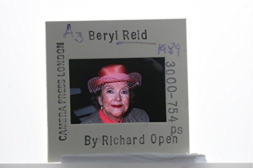 Slides photo of Portrait of British actress, Beryl Reid, 1989.
