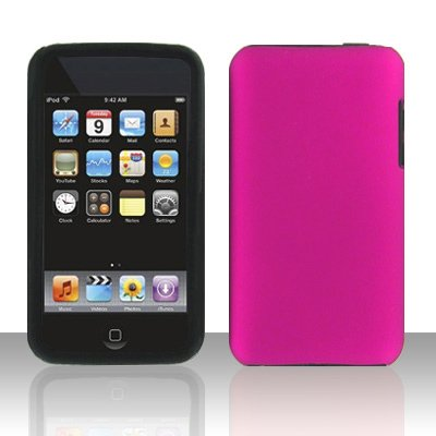 Apple Ipod Touch 2g 3g Metallic Hot Rose Pink Snap-On Premium Hard Cover Case + Bonus 5.5