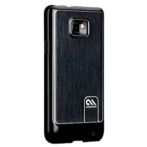 Case-Mate Barely There Case for Samsung Galaxy S2 (not compatible with Orange NFC handset) - Brushed Aluminium Black