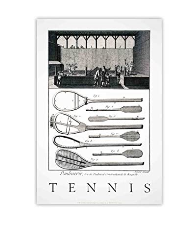 "Benard Direxit ""Tennis Players"" 1991 Unframed Poster, Black/White"