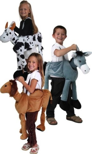 48026_48027_48028 Plush Ride-on Camel Donkey Cow Nativity dressup costume