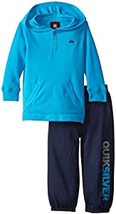 Quiksilver Little Boys' Thermal Hoody with Pull On Pants, Blue, 4T