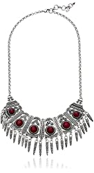 "Lucky Brand Ruby Collar Necklace, 21"" + 2"" Extender"