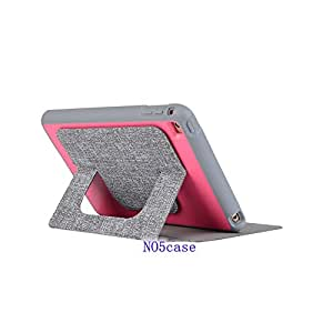 Ipad Mini 4 Case,mini 4 Case,no5case*new*[kickstand][shockproof][lightweight]fit Best Perfect Protection Simple and Elegant (Plaid+Pink)