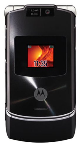 Motorola RAZR V3xx Unlocked Phone with 3G, MP3/Video Player, and MicroSD Slot--International Version with No Warranty (Licorice Black)