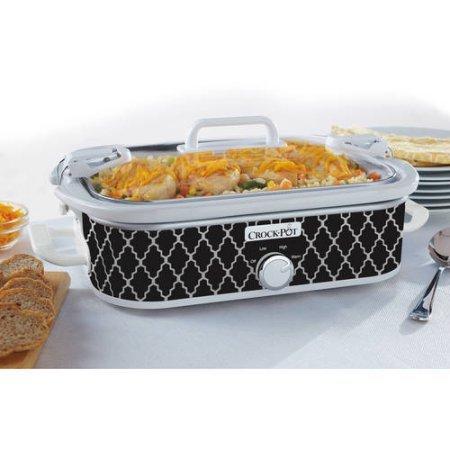Crock-Pot Casserole Crock 3.5-Quart Slow Cooker (Black and White) (Slow Cooker Turkey compare prices)