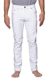 Victorious Men's Skinny Fit Colored Jeans DL937 - WHITE