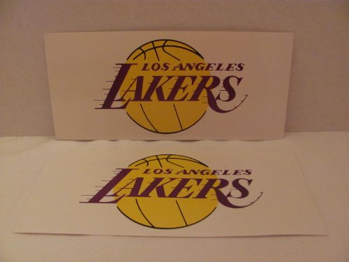 "Los Angeles Lakers (Nba) - 2 Sticker Sheets (Approx. 3 7/8"" X 8 1/2"" Each) front-1047904"