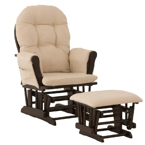 Best Buy! Stork Craft Hoop Glider and Ottoman, Espresso/Beige