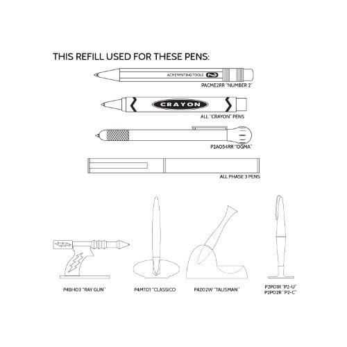 Acme Studio Acme Studio stylo ou Crayon numéro 2 recharges pour stylo-Noir-Lot de 5