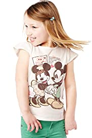 Pure Cotton Minnie & Mickey Mouse T-Shirt