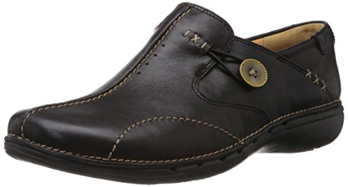 clarks-un-loop-womens-mocassins-black-black-leather-6-uk-395-eu