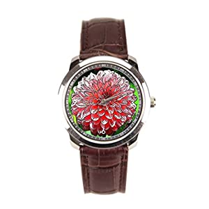 sanYout Best Wrist Watch For Men Angelika Moethrath Leather Band Watch Graphic Mens Leather Band Watches Nature