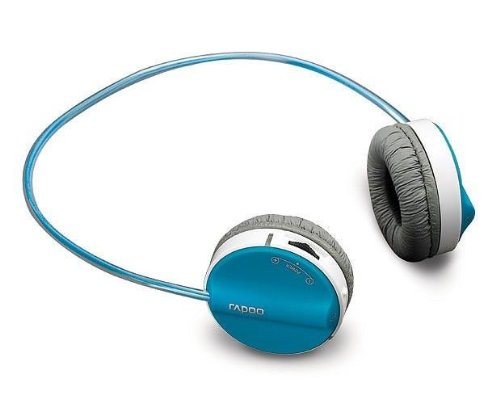 Rapoo H3050 2.4Ghz Wireless Built-In Microphone Stereo Headset (Blue)