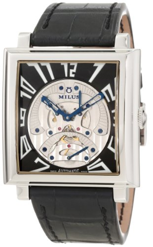 Milus Men's HERT001 Stainless Steel with Silver Dial Watch