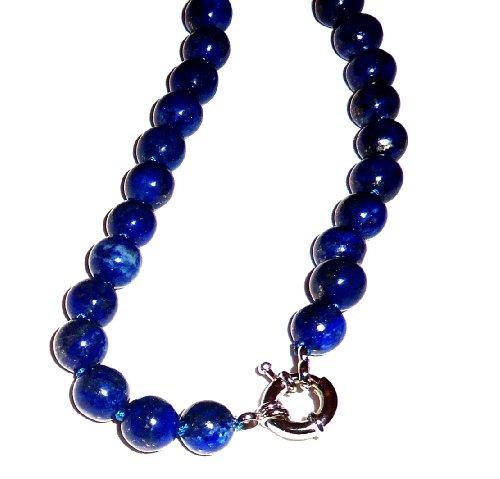 Lapis Lazuli Necklace 01 Natural Blue Gold Spiritual Healing Crystal Energy 36