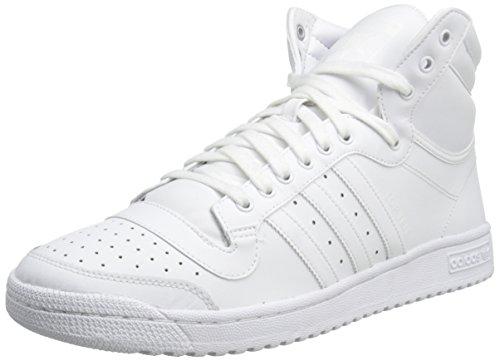 adidas Originals Men's Top Ten Basketball Shoe, White/White/White, 7.5 M US