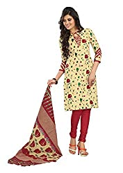 Khushbu Textile Women's Cotton Unstitched Salwar Suit (9007_Multicolor_Free Size)
