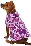 East Side Collection Heart Fleece Pet Jacket - Purple