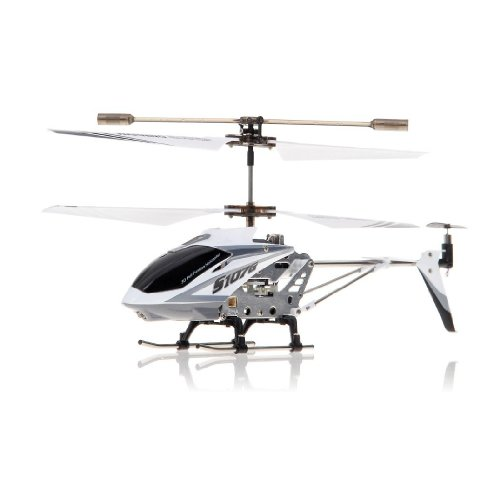 Syma 3 Channel S107/S107G Mini Indoor Co-Axial R/C Helicopter w/ Gyro (White Color) with Mini Tool Box (fs)