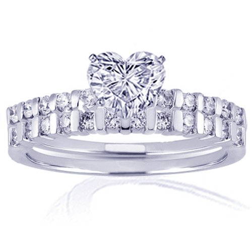 1.35 Ct Heart Shaped Diamond Engagement Wedding