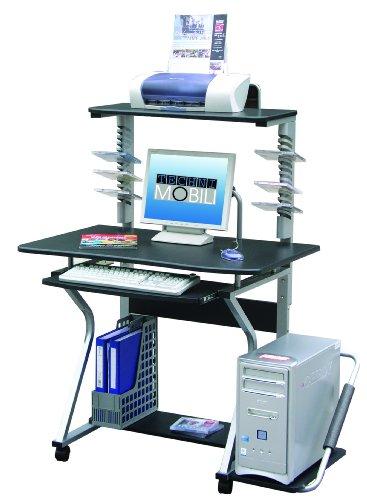 Techni Mobili Mobile Upright MDF Computer Desk, Graphite (Computer Desk Stainless Steel compare prices)