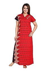 Vimal Fashion Cotton Multi Colour Printed Night Wear / Nightgown / Women Sleepwear / Womans Pyjamas (VF060)
