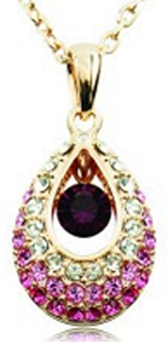 SaySure - 18K Gold Plated Luxury Water Drop Pendent