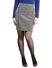 M&S Collection Piped Marl Mini Skirt