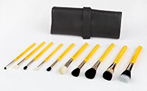 Bdellium Tools Professional Antibacterial Makeup Studio Line Mineral 10pc. Brush Set with Roll-Up Pouch