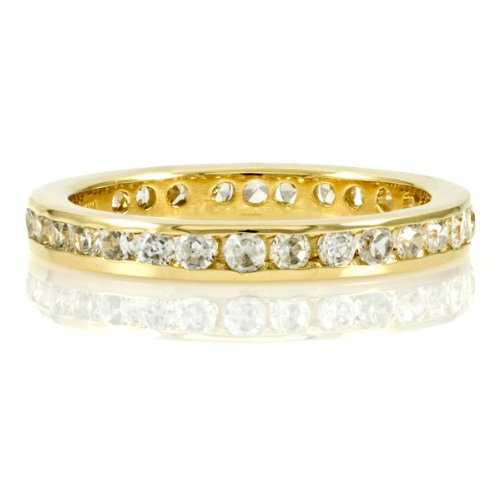 Kee's Gold Plated Eternity Band- Clear CZ - Final Sale