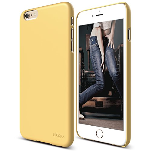 iPhone 6S Plus Case, elago [Slim Fit 2][Creamy Yellow] - [Light][Minimalistic][True Fit] - for iPhone 6/6S (Iphone 6 Plus Case Flat Sides compare prices)