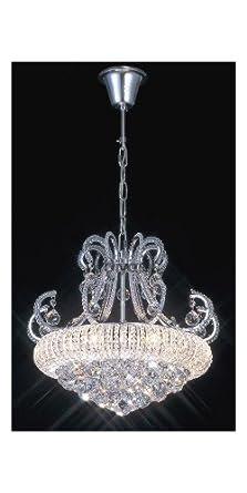 Oaks Lighting Abat-jour festonn/é imitation soie Sable 30,5 cm