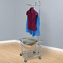 Rolling,Household Essentials Laundry Butler In Chrome Finish