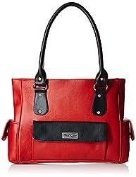 Fantosy Women's Handbag (Red and Black) (FNB-292)