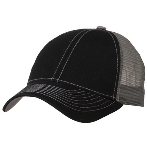Low Profile Structured Trucker Cap-Black Grey (Low Profile Trucker Cap compare prices)