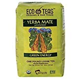 ECOTEAS Organic Unsmoked Yerba Mate Tea (Pure Loose Leaf) 1 pound (Tamaño: 1lb Pure Loose Leaf)