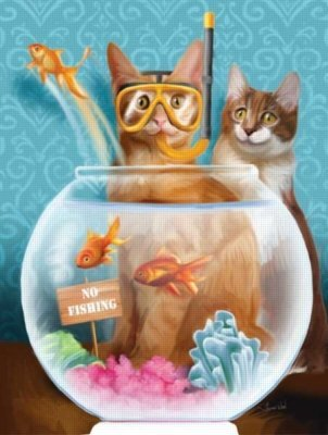 Cheap SunsOut No Fishing! 300pc Jigsaw Puzzle by Tom Wood (B004HSDMCY)