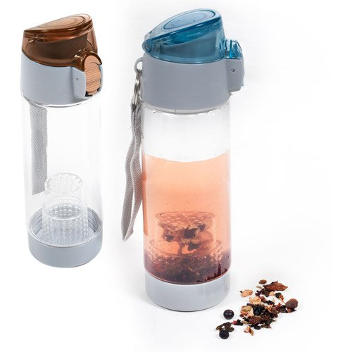 18-Ounce Tea Infusion Tumbler Top Lid Lock Wrist Strap 2-Pack, Assorted