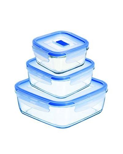 Luminarc Set 3 Recipientes Herméticos Cuadrados Modelo Pure Box Active
