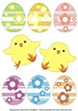 Happy Easter eggs and chicks-toppers & decoupages by Janet Chen Curtis
