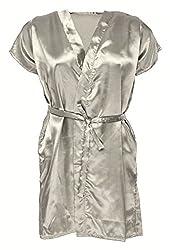 Le Fantasia Women Night Gown Kimono (White, Large)