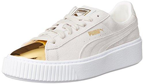 Suede Platform Gold - Puma - 362222 001 - gold-stra white - puma white - (37.5, 001 white - gold)