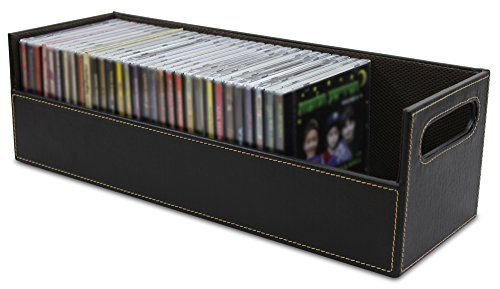 stock-your-home-chocolate-stacking-cd-tray-hold-40-cds