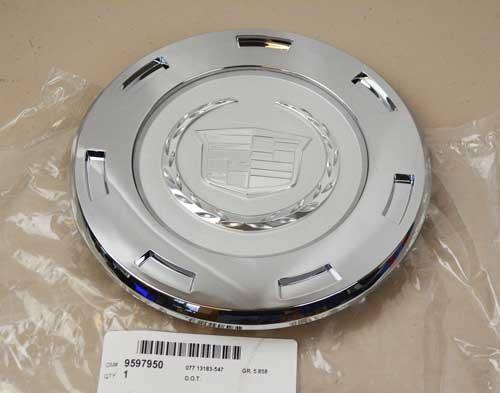 "2007-2011 Cadillac Escalade 22"" 7-Spoke Wheel Center Hub Cap Silver OEM NEW"