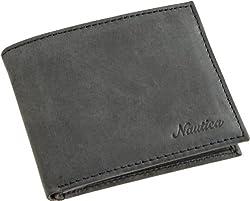 Nautica Men's Centerboard Passcase, Black, One Size