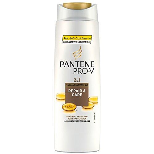Pantene Shampoo e Balsamo 2 in 1 Pro-V Rigenera e protegge, con siero nutriente, 6 pz. da 250 ml