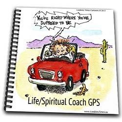Spiritual Lifecoach GPS Cartoon - Drawing Book 8 X 8 Inch