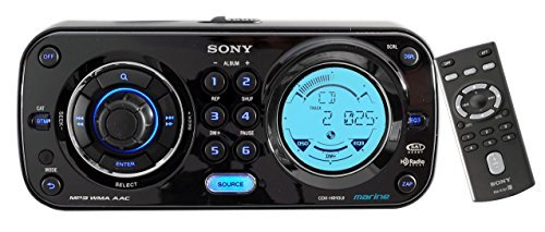 New Sony CDX-H910UI Marine Boat Yacht CD MP3 iPod iPhone Stereo AM/FM Radio Player + Sony Wired Remote RM-X60ML CDXH910UI - RMX60ML